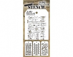 MTHS023 Stampers Anonymous Tim Holtz Layering Stencil - Mini Stencil Set #23